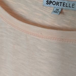 Sportelle Tops - NEW Sportelle Plus Malibu Peach Tassel Shirt